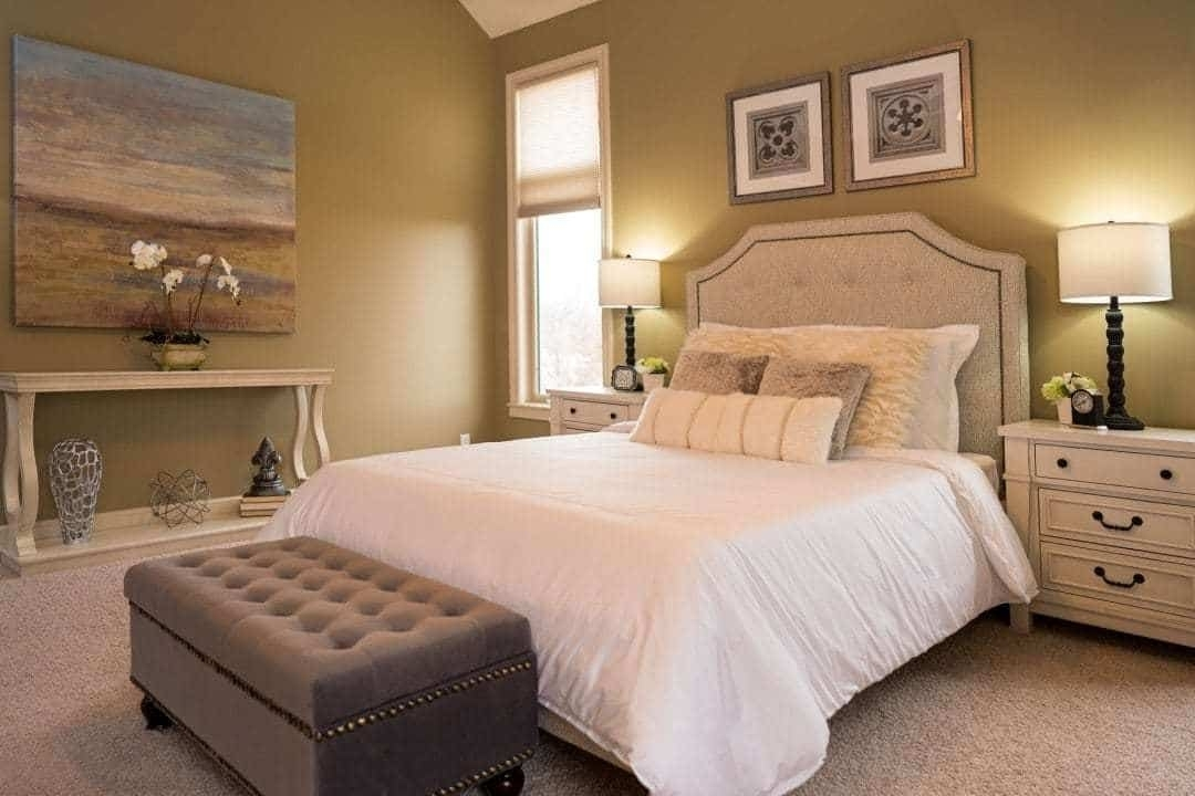 Luxury Home Staging - Master bedroom Stylish Staging